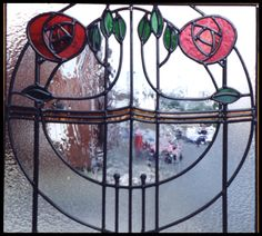 stained glass Glasgow Rose