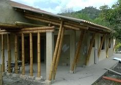 Pergola Attached To House Pergola Attached To House, Pergola With Roof, Diy Pergola, Bamboo House, Bamboo Fence, Compound House, Bamboo Building, Bamboo Structure, Bamboo Construction