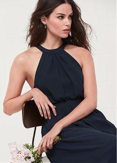 03fe5c9c73 Magbridal Fashionable Chiffon Jewel Neckline A-line Bridesmaid Dresses With  Slit