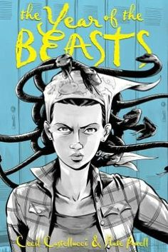 "New this month at the library: ""The Year of the Beasts"" graphic novel by Cecil Castellucci & Nate Powell. Written as part regular novel/part graphic novel, this work tells the story of Tessa and her younger sister Lulu whose relationship is tested for the first time."