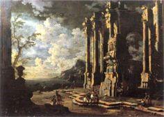 Harbor Scene with Roman Ruins, Leonardo Coccorante
