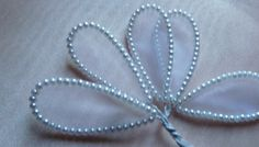 SALE 5 Wired Pearl Leaves for Bridal Boutonnieres di MaryNotMartha, $3.75