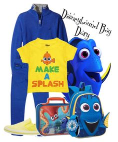 """Boy Dory Disneybound"" by vengefulfairy ❤ liked on Polyvore featuring Nautica, Bardot Junior, Disney Pixar Finding Dory and Samsonite"