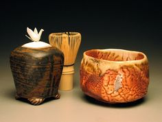 tea jar and shino chawan