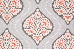 Robert Allen Kavali Ogee Printed Cotton Drapery Fabric in Persimmon $18.95 per yard