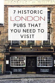 7 Historic London Pubs You Need to Visit London Travel Guide & Things To Do In London & Where To Drink London & Source by London Eye, London Street, London City, Oh The Places You'll Go, Places To Travel, Travel Destinations, Travel Tips, Travel Hacks, Travel Goals