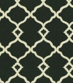Upholstery Fabric-Waverly Chippendale Fretwork Onyx & Upholstery Fabric at Joann.com