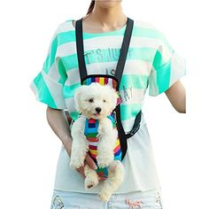 iEFiEL Summer Days Pets Dogs Cats Shopping Protable Carrier Bag Easy Access L 7513 lb Rainbow Stripe >>> Want additional info? Click on the image.