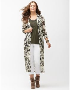 Plus size trendy layering long overpiece