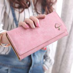 Fashion Luxury Brand Women Wallets Cute Leather Wallet Female Anime Coin Purse Wallet Women Card Holder Wristlet Money Bag Small #Affiliate
