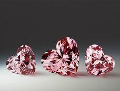 The beautiful, rare and prestigious Argyle Pink Diamonds ~ The heart-shaped fancy intense pink diamond. #PinkDiamonds