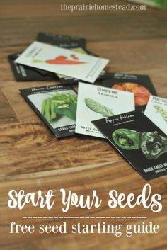free seed planning guide for starting seeds