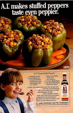 A1 Savory Stuffed Peppers vintage...again I <3 vintage recipes