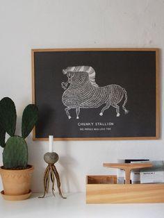 chunky stallion print by Champagne Pony Club