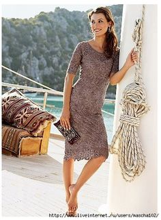 Crochet gold: Crochet dress