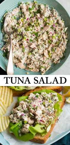Best Tuna Salad Recipe – Cooking Classy Tuna Salad – made in minutes with kitchen basics like canned tuna, mayo and bright lemon. It's an easy, staple recipe! Healthy Diet Recipes, Healthy Foods To Eat, Lunch Recipes, Seafood Recipes, Healthy Eating, Cooking Recipes, Crockpot Recipes, Keto Recipes, Dinner Recipes