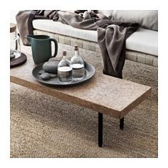 IKEA - SINNERLIG, Coffee table, Cork is a soft, dirt-repellent natural material that dampens sound and is resistant to water.Cork is a natural material giving variations in color and appearance.