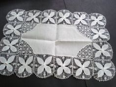 Unique Vintage Table Centerpiece Snow White Hand by VerasLinens