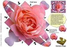 A pretty rose image box template which folds easily together with two heart shapes at the top. There are easy to follow instructions on this sheet, as well as a pretty rose matching gift tag topper. I have included two smaller rose toppers to be added to the heart shapes at the top, once the box is completed - but you could also use this for other projects.   Please take a look at the other heart top boxes as well, under my name.  Xk