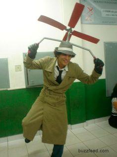 Inspector Gadget costume, carnival for kids - Disfraz inspector gadget, carnaval para niños