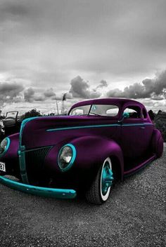 Purple and Teal! ...