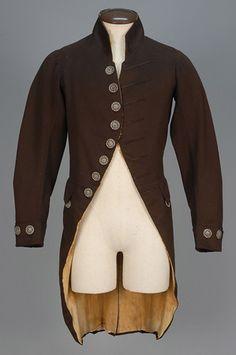 LOT 485 ENGLISH WOOL LIVERY COAT, 1790 - 1800. - whitakerauction