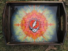 Tray/ Grateful Dead Tray/ Rolling Tray/ Food Tray Shot Glass Tray/ Wood Trays/ Dead Wood Works/ Steal Your Face/ Suns/ Fire Suns/ Easy Wind by EasyWindFamily on Etsy