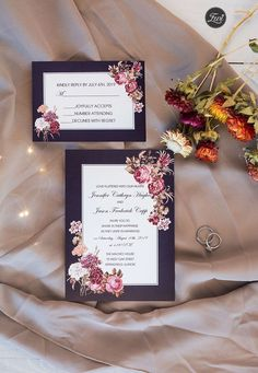 Victorian Bouquets vintage colored border with victorian inspired floral invitation Fall Wedding Invitations, Wedding Invitation Cards, Wedding Cards, Invites, Color Mauve, Color Lila, Outside Wedding Ceremonies, Wedding Ceremony, Fall Wedding Groomsmen