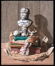 Métamorphose - Peinture,  55x46 cm ©2014 par Yves PALLIES -                                                            Trompe-l'œil, Toile, Arts de la scène, yves palliès