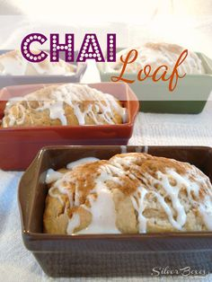 Chai Loaf with Cinnamon Glaze