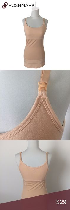 Yummie Tummie Laurel Nursing Tank Top Cami Shaper Pre-owned Yummie Tummie Laurel Nursing Tank Top Camisole in Nude. Size M. Retails for $68.  Excellent condition. Worn and washed once. I needed a smaller size as this was too big.  This patented 3-panel nursing tank is a true mother's helper. Featuring our signature yummie hug around your middle to smooth and shape comfortably, and Outlast technology to regulate body temperature. The simple snap down bust panel makes nursing quick and easy at…