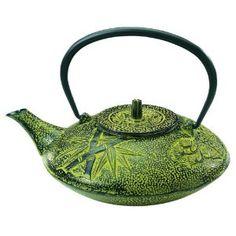 Old Dutch 38-Ounce Cast-Iron Nobility Teapot, Moss Green