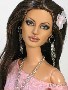 """VERY REALISTIC OOAK Articulated Barbie Ken Doll Repaint """"Angie"""" DNJ Dolls 5 Day Auction 