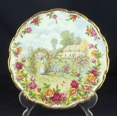 Royal Albert Celebration of the Old Country Roses Garden Plate 1st Quality VGC