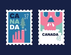 I illustrated a series of stamps about environmental degradation in Canada