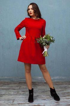 0e1b5adb065 Stylish red mini dress with pockets