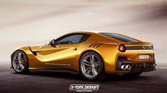 Digitally Rendered Ferrari F12 GTO Exudes Power