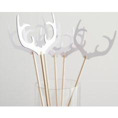 Antler Swizzle Sticks - Set of 12 - Shop Cakegirls