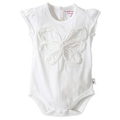 Burt's Bees Baby™ Organic Cotton Flutter Sleeve Butterfly Bodysuit in White