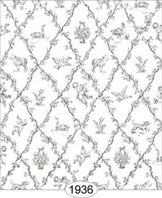 Galerry black and white dollhouse wallpaper