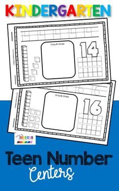 MATH IN KINDERGARTEN TEEN NUMBER CENTERS - printable pots worksheets and activities - fill in ten frames - identify and count - Teen Numbers and Base Ten counting and cardinality - ten and some ones - counting to 20 - numbers to 20 - math fluency #kindergartenmath #kindergartencounting Kindergarten Centers, Kindergarten Classroom, Literacy Centers, Teaching Place Values, Teen Numbers, Ten Frames, Year 2, Stem Activities, Teacher Resources