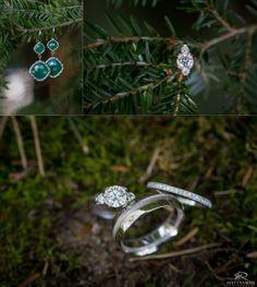 Wedding bands | Rings | Bride & Groom | Green © Matt Ramos Photography