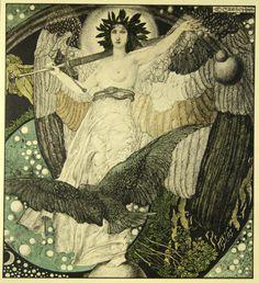 Astronomy, The Creation, The Lie - Carl Otto Czescka lithograph