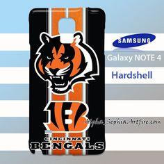 Cincinnati Bengals texture Stripes Samsung Galaxy Note 4 Case Cover