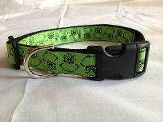 Grinch Christmas   Adjustable Dog Collar 1 by TheEmPURRium on Etsy, $10.50