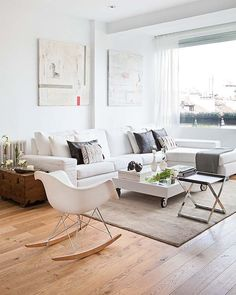 'Minimal Interior Design Inspiration' is a biweekly showcase of some of the most perfectly minimal interior design examples that we've found around the web - Living Room Interior, Home Living Room, Living Room Designs, Living Room Decor, Interior Design Examples, Interior Design Inspiration, Home Decor Inspiration, Design Ideas, Modern Interior