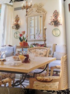 Excellent modern french country decor are offered on our internet site. Take a look and you wont be sorry you did. French Country Dining Room, Modern French Country, French Country Cottage, French Style, French Country Fabric, Cottage Chic, Cottage Style, Country Living, French Home Decor