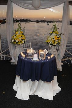 Navy and white. Good colours for a wedding. No nautical themes allowed however. Nautical Wedding Theme, Wedding Themes, Wedding Decorations, Wedding Ideas, Boat Wedding, Yacht Wedding, Destination Wedding Locations, Wedding Receptions, Beautiful Moments