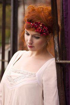 Samodiva / Čelenka pro podzimní krásku, na gumiččce