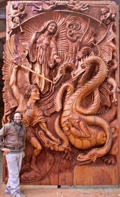 Unbelievable!  This piece was carved by J.Chester Armstrong